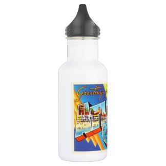 Viaje del vintage de Atlantic City 2 New Jersey NJ Botella De Agua