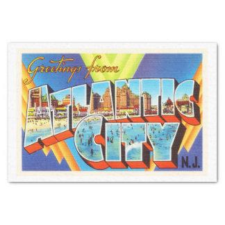 Viaje del vintage de Atlantic City 2 New Jersey NJ Papel De Seda