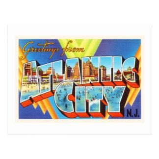 Viaje del vintage de Atlantic City 2 New Jersey NJ Postal