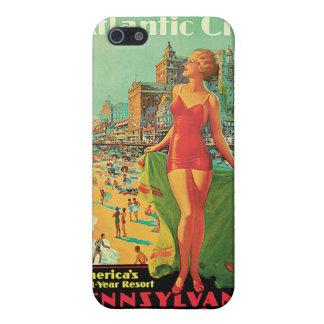 Viaje del vintage de Atlantic City - de Pennsylvan iPhone 5 Funda