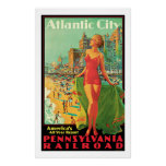 Viaje del vintage de Atlantic City - de Pennsylvan Impresiones