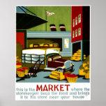 Viaje del vintage de Atlantic City New Jersey Poster