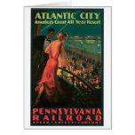 Viaje del vintage de Atlantic City New Jersey Felicitacion