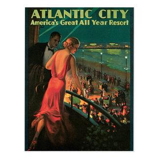 Viaje del vintage de Atlantic City New Jersey Postal