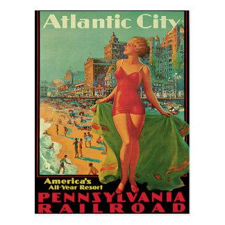 Viaje del vintage de Atlantic City Postales