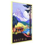 Viaje del ~Vintage de Austria Impresion De Lienzo