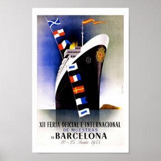 Viaje del vintage de Barcelona Poster