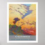 Viaje del vintage de California Póster