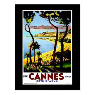 """Viaje del vintage de """"Cannes, Francia"""" Tarjetas Postales"""