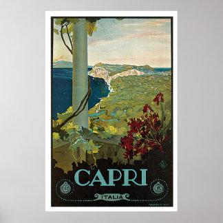 Viaje del vintage de Capri Italia Poster