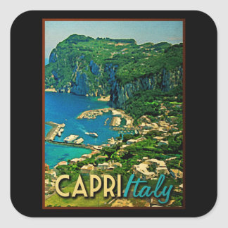 Viaje del vintage de Capris Italia Pegatina Cuadrada