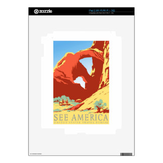 Viaje del vintage de Colorado co del parque iPad 2 Calcomanía