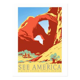 Viaje del vintage de Colorado co del parque Postales
