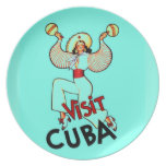 Viaje del vintage de Cuba de la visita Plato