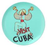 Viaje del vintage de Cuba de la visita Plato De Cena