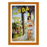 Viaje del vintage de Cuba Felicitación