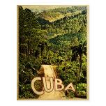 Viaje del vintage de Cuba Tarjeta Postal