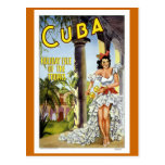 """Viaje del vintage de """"Cuba"""" Tarjetas Postales"""