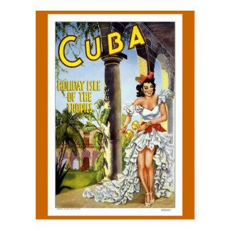 Viaje del vintage de Cuba Tarjetas Postales