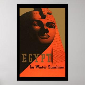 Viaje del vintage de Egipto Poster
