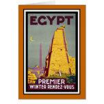 Viaje del vintage de Egipto Tarjeta De Felicitación