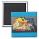Viaje del vintage de El Cairo Egipto Imán Para Frigorifico