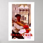 Viaje del vintage de Innsbruck Austria Póster