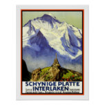 Viaje del vintage de Interlaken Poster