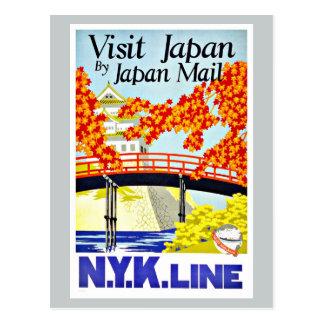 Viaje del vintage de Japón Asia de la visita Tarjetas Postales
