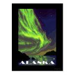 Viaje del vintage de la aurora boreal y de las postal