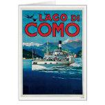 Viaje del vintage de Lago Di Como Italia Tarjeta De Felicitación