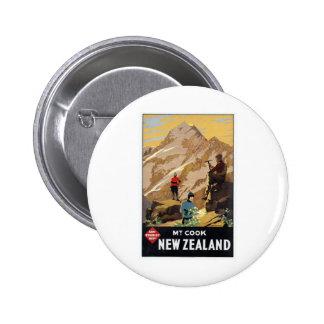 Viaje del vintage de las montañas de Mt.Cook Nueva