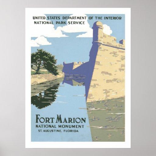 Viaje del vintage de Marion del fuerte Impresiones
