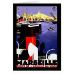 """Viaje del vintage de """"Marsella, Francia"""" Tarjeta"""