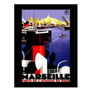Viaje del vintage de Marsella, Francia Tarjetas Postales