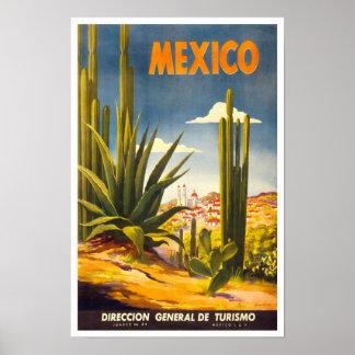 Viaje del vintage de México Póster