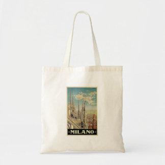 Viaje del vintage de Milano Milano Italia Bolsa Tela Barata