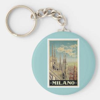 Viaje del vintage de Milano Milano Italia Llaveros