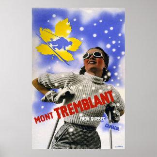 """Viaje del vintage de """"Mont Tremblant"""" Poster"""