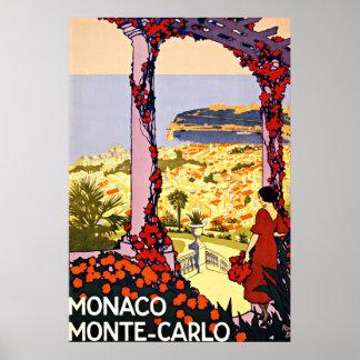 Viaje del vintage de Monte Carlo, Mónaco Impresiones