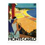 Viaje del vintage de Monte Carlo Mónaco Postales