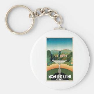 Viaje del vintage de Montecatini Italia Llavero