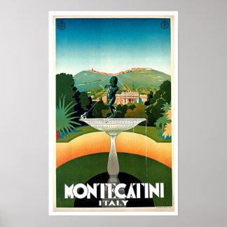 Viaje del vintage de Montecatini Toscana Italia Poster