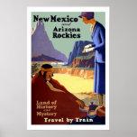 Viaje del vintage de New México Posters