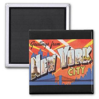 Viaje del vintage de New York City Imanes Para Frigoríficos