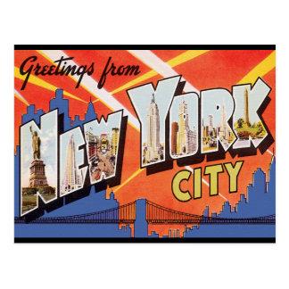 Viaje del vintage de New York City Postales