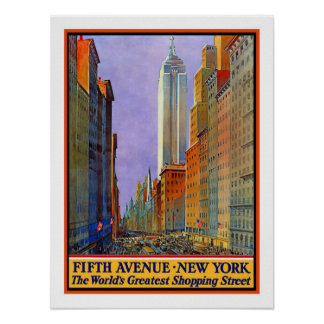 Viaje del vintage de Nueva York Posters