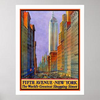 Viaje del vintage de Nueva York Póster