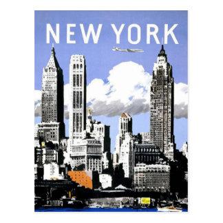 Viaje del vintage de Nueva York Postales