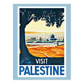 Viaje del vintage de Palestina de la visita Postal